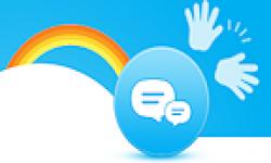 Skype logo vignette